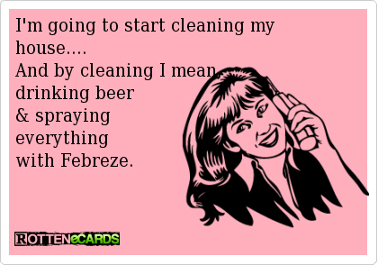 cleaning with febreeze